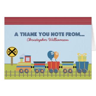 Choo Choo Kids Thank-You Card (red)