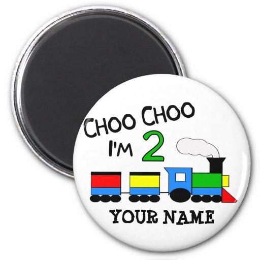 ¡Choo Choo soy 2!  Con el TREN Imán Para Frigorifico