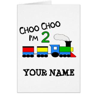 ¡Choo Choo soy 2!  Con el TREN Tarjetas