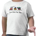Choo Choo soy camiseta de dos cumpleaños