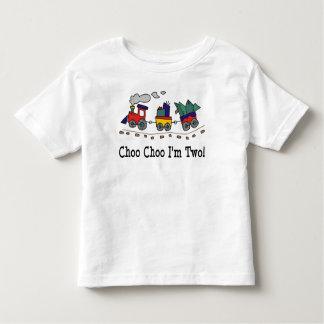 Choo Choo soy camiseta de dos cumpleaños Poleras