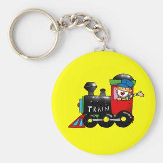Choo-choo toy train boy keychains