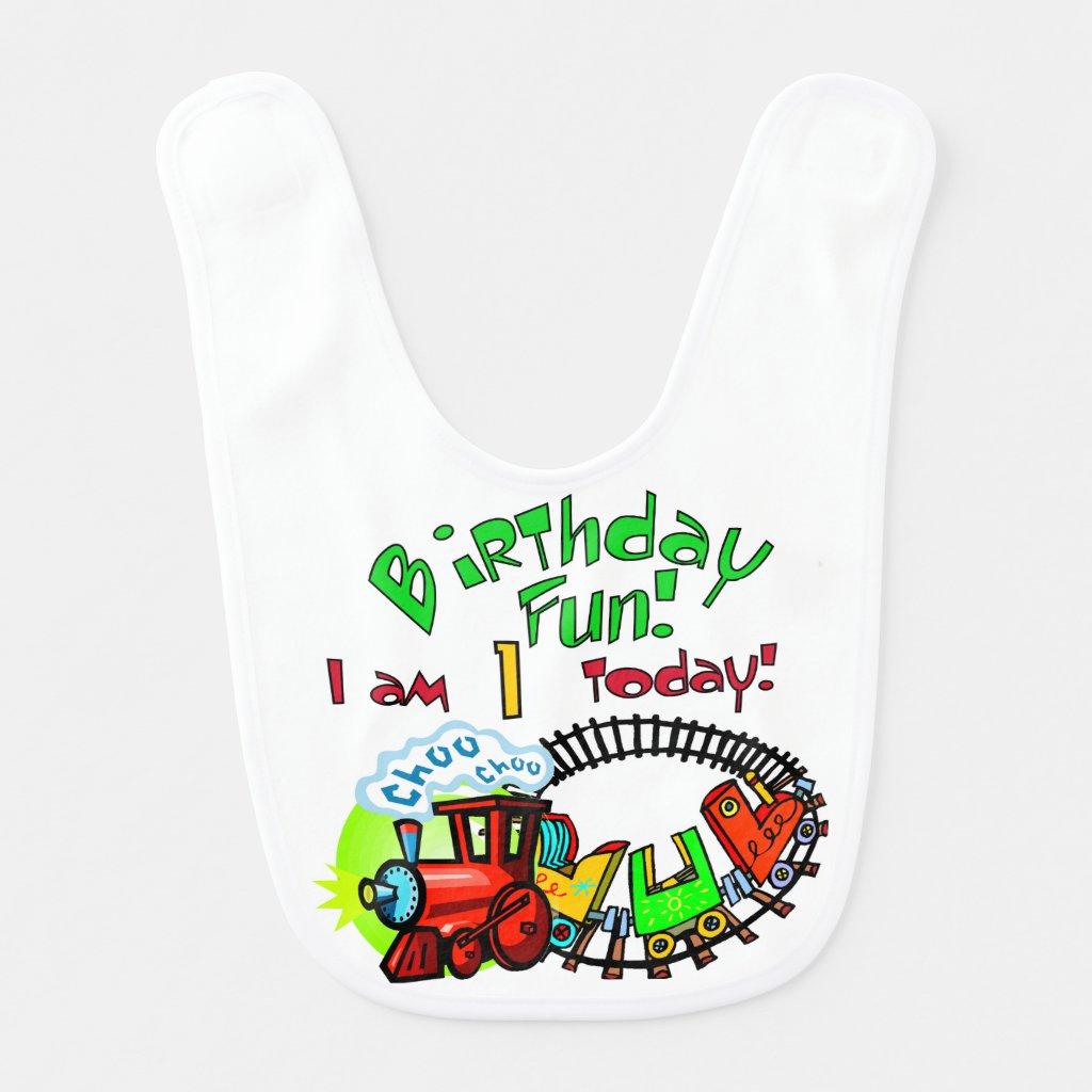 Choo Choo Train 1st Birthday Bib