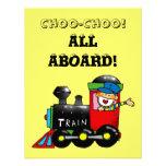 choo choo train 1st birthday party custom invitation