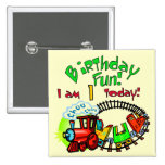 Choo Choo Train 1st Birthday Tshirts and Gifts 2 Inch Square Button