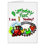 Choo Choo Train 1st Birthday Tshirts and Gifts Greeting Card