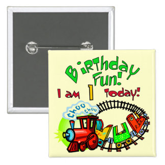 Choo Choo Train 1st Birthday Tshirts and Gifts Pinback Button
