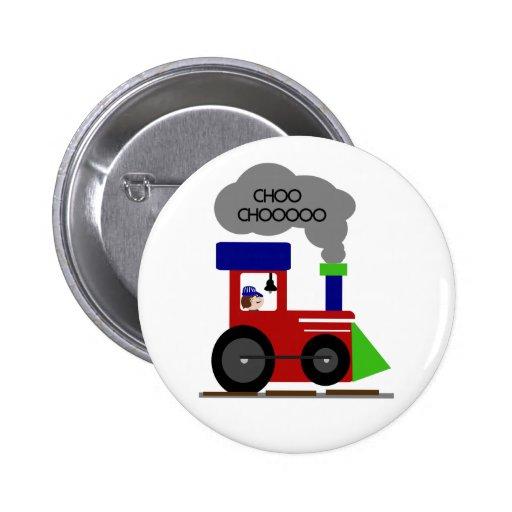 Choo Choo Train 2 Inch Round Button