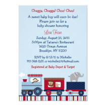 Choo Choo Train Animal Baby Shower Invitations