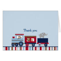 Choo Choo Train Animal Thank You Note Cards