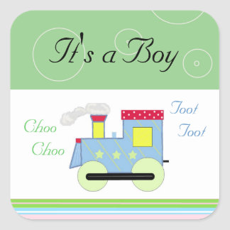Choo Choo Train Baby Boy Sticker