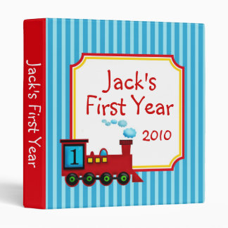 Choo Choo Train Baby Photo Album BInder