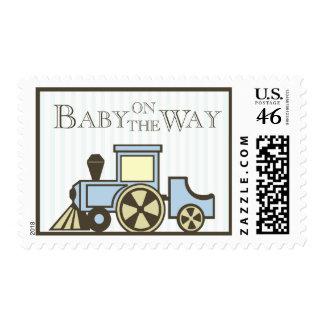 Choo Choo Train Baby Postage Stamps