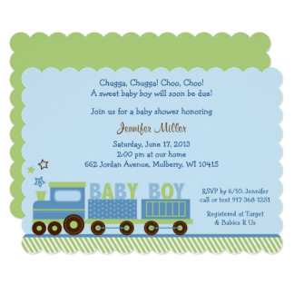 Choo Choo Train Baby Shower Card