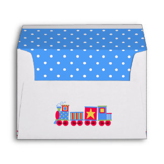 Choo Choo Train Baby Shower Envelope