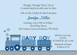Train baby invitations zazzle choo choo train baby shower invitation filmwisefo