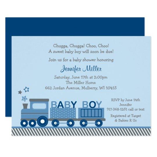 Choo choo train baby shower invitation zazzle choo choo train baby shower invitation filmwisefo