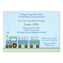 Choo Choo Train Baby Shower Invitations