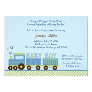 "Choo Choo Train Baby Shower Invitations 4.5"" X 6.25"" Invitation Card"