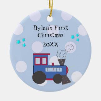 Choo Choo Train Baby's First Christmas Ceramic Ornament