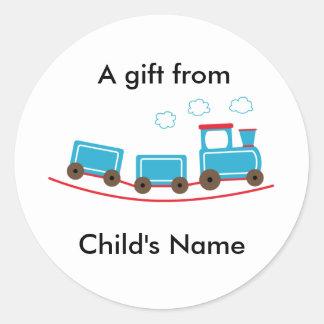 Choo Choo Train Birthday Goodie Bag Labels Round Stickers