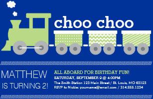 Train 2nd birthday invitations announcements zazzle choo choo train birthday invitation filmwisefo