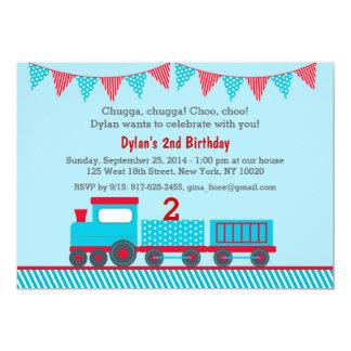 Choo Choo Train Birthday Invitations