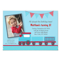 Choo Choo Train Birthday Invitations