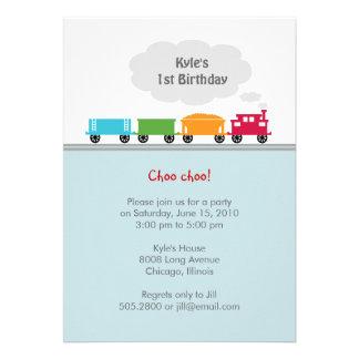 Choo Choo Train Birthday Party Invitation Invitation