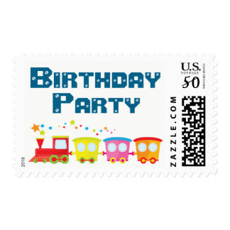 Choo Choo Train Birthday Party Postage
