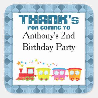 Choo Choo Train Birthday Thank You Stickers
