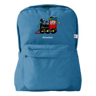 choo choo train boy american apparel™ backpack