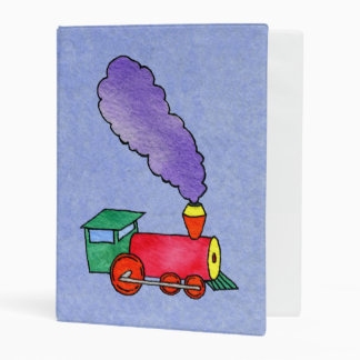 Choo Choo Train & Caboose Mini Binder
