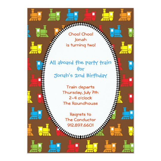 Choo Choo Train Card
