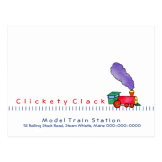 Choo Choo Train customizable Postcard
