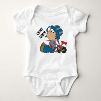 Choo, Choo, Train Engineer Baby Bodysuit