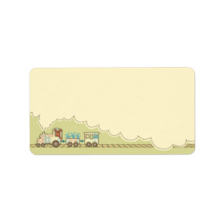Choo Choo Train Gift Tag Personalized Address Labels