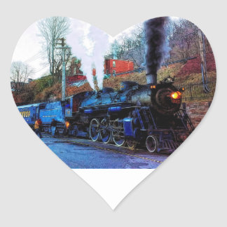 Choo Choo Train Heart Sticker