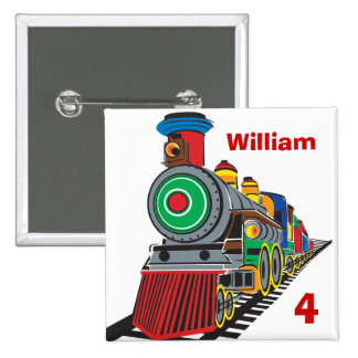 Choo Choo Train Pinback Button