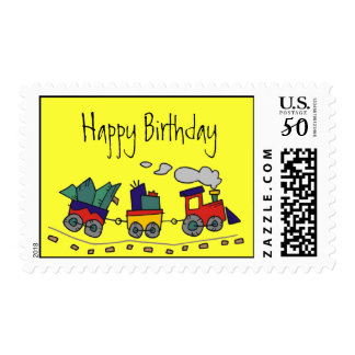 Choo Choo Train Postage-Happy Birthday Postage