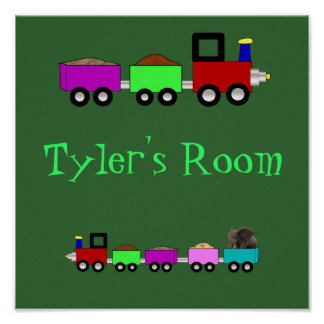 Choo Choo Train Room Sign Poster