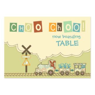 Choo Choo Train Table Card Flat Mini Large Business Cards (Pack Of 100)