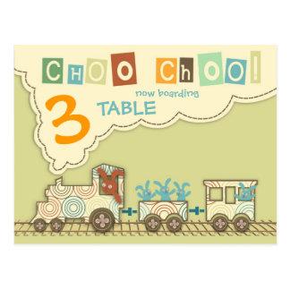 Choo Choo Train Table Postcard