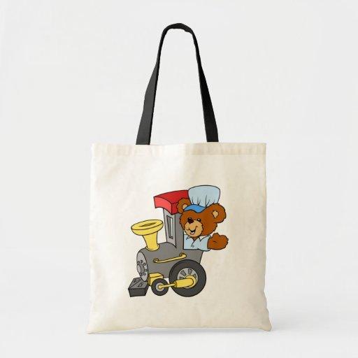 Choo Choo Train Teddy Bear Budget Tote Bag