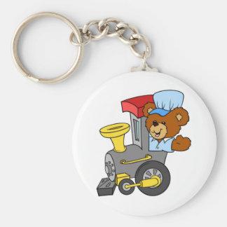 Choo Choo Train Teddy Bear Keychains