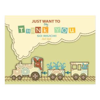 Choo Choo Train Thank You Postcard