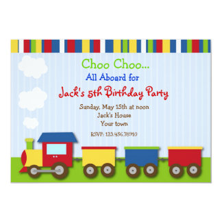 train birthday party invitations  announcements  zazzle, Party invitations