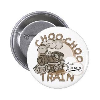 Choo Choo Train Tshirts and Gifts Button