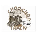Choo-Choo Train Tshirts and GIfts Postcards