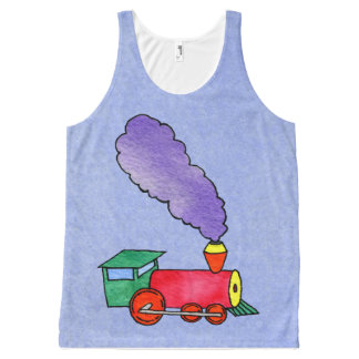 Choo Train & Caboose All-Over-Print Tank Top